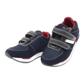 American Club Sportowe buty American RH24 Navy czerwone granatowe 2