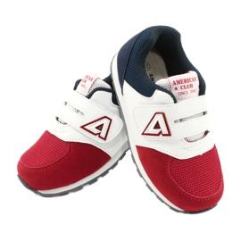 American Club Buty sportowe wkładka skórzana American BS01 BS02 Red białe czerwone granatowe 3