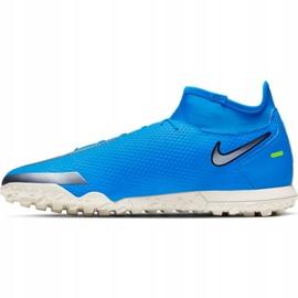 Buty piłkarskie Nike Phantom Gt Club Df Tf M CW6670 400 niebieskie niebieskie 1