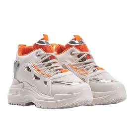 Biało beżowe sneakersy snake Felicia beżowy białe 1