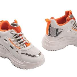 Biało beżowe sneakersy snake Felicia beżowy białe 2