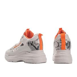 Biało beżowe sneakersy snake Felicia beżowy białe 3