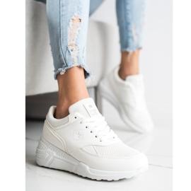 SHELOVET Casualowe Białe Sneakersy 4