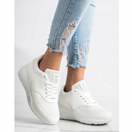 SHELOVET Casualowe Białe Sneakersy 1