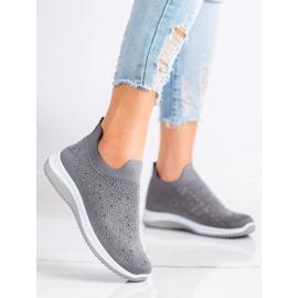 Renda Wsuwane Sneakersy Na Wiosnę szare 1