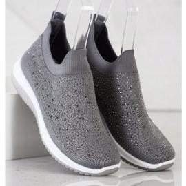 Renda Wsuwane Sneakersy Na Wiosnę szare 3