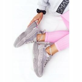 PS1 Damskie Sneakersy Na Dużej Podeszwie Szare Good Mood 3