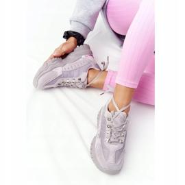 PS1 Damskie Sneakersy Na Dużej Podeszwie Szare Good Mood 4