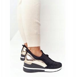 Sneakersy Na Koturnie Wsuwane Vinceza 10593 Czarno-Złote czarne zielone 2