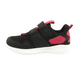 Buty sportowe wkładka skóra American Club AA06 czarny czarne czerwone 1