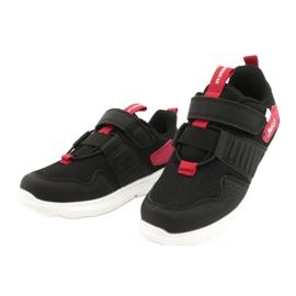 Buty sportowe wkładka skóra American Club AA06 czarny czarne czerwone 2