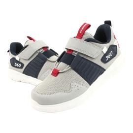 Buty sportowe wkładka skóra American Club AA06 czerwone granatowe szare 3