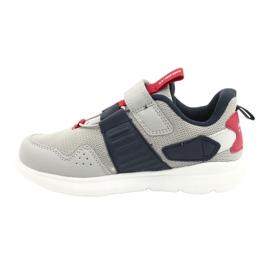 Buty sportowe wkładka skóra American Club AA06 czerwone granatowe szare 1