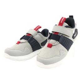 Buty sportowe wkładka skóra American Club AA06 czerwone granatowe szare 2