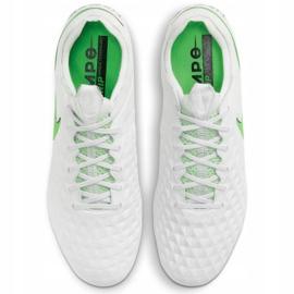 Buty piłkarskie Nike Tiempo Legend 8 Elite Fg M AT5293 030 białe białe 1