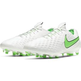 Buty piłkarskie Nike Tiempo Legend 8 Elite Fg M AT5293 030 białe białe 3