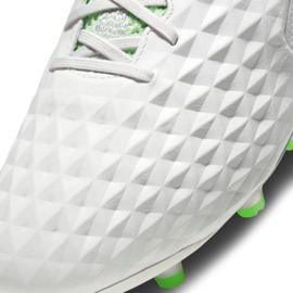 Buty piłkarskie Nike Tiempo Legend 8 Elite Fg M AT5293 030 białe białe 6