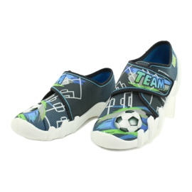 Befado obuwie dziecięce 273Y317 niebieskie szare wielokolorowe zielone 3