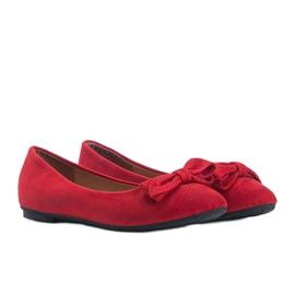 Czerwone balerinki zamszowe Ellie 1
