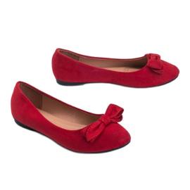 Czerwone balerinki zamszowe Ellie 2