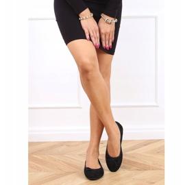 Baleriny damskie zamszowe czarne 2CE-9490 Black 3