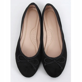 Baleriny damskie zamszowe czarne 2CE-9490 Black 1