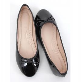 Baleriny lakierowane czarne 1JB-18181 Black 1