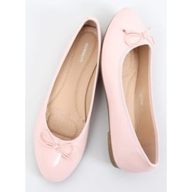 Baleriny lakierowane różowe 1JB-18181 Pink 1