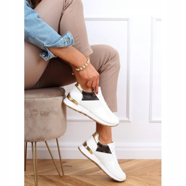 Buty sportowe damskie białe J2140 WHITE/BROWN 2