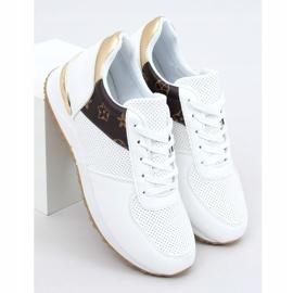 Buty sportowe damskie białe J2140 WHITE/BROWN 1