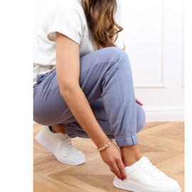 Buty sportowe damskie białe G191 White 3