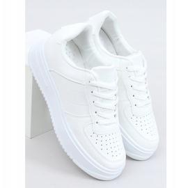 Buty sportowe damskie białe G191 White 1