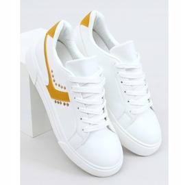 Trampki damskie białe 1063 Yellow żółte 1