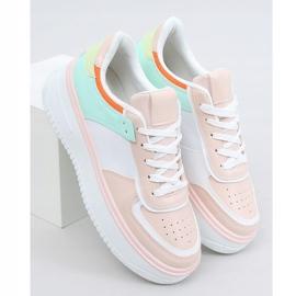 Buty sportowe damskie wielokolorowe 205062 PINK/GREEN różowe zielone 1