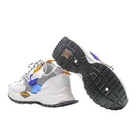 Biało-czarne sneakersy sportowe Holly białe 2