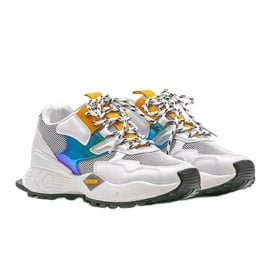 Biało-czarne sneakersy sportowe Holly białe 4