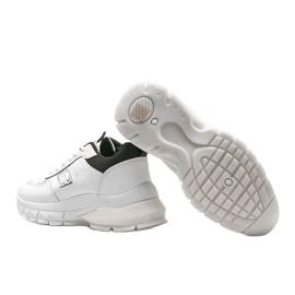 Biało-czarne sneakersy sportowe Dana białe 2