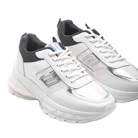 Biało-czarne sneakersy sportowe Dana białe 3