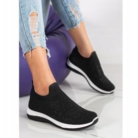 Renda Wsuwane Sneakersy Na Wiosnę czarne 2