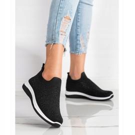 Renda Wsuwane Sneakersy Na Wiosnę czarne 3