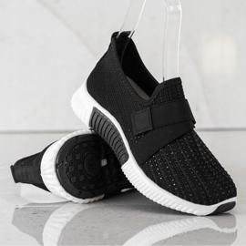 SHELOVET Buty Sportowe Z Kryształkami czarne 4