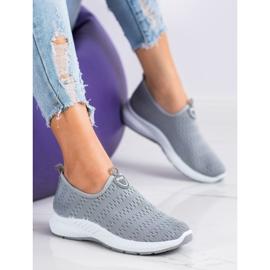 SHELOVET Lekkie Wsuwane Sneakersy szare 1