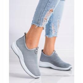 SHELOVET Lekkie Wsuwane Sneakersy szare 2