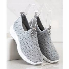 SHELOVET Lekkie Wsuwane Sneakersy szare 3
