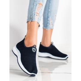 SHELOVET Lekkie Wsuwane Sneakersy granatowe 1
