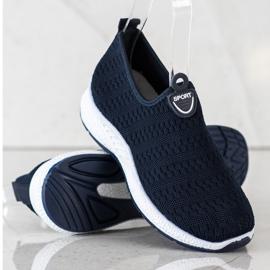 SHELOVET Lekkie Wsuwane Sneakersy granatowe 2