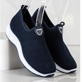 SHELOVET Lekkie Wsuwane Sneakersy granatowe 3