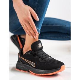 Mckeylor Sznurowane Buty Sportowe czarne pomarańczowe 2