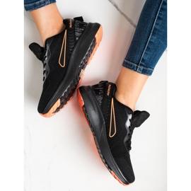 Mckeylor Sznurowane Buty Sportowe czarne pomarańczowe 3