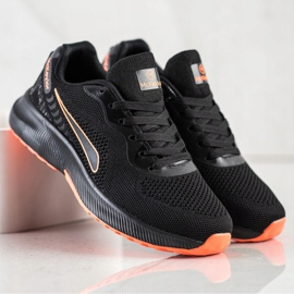 Mckeylor Sznurowane Buty Sportowe czarne pomarańczowe 1